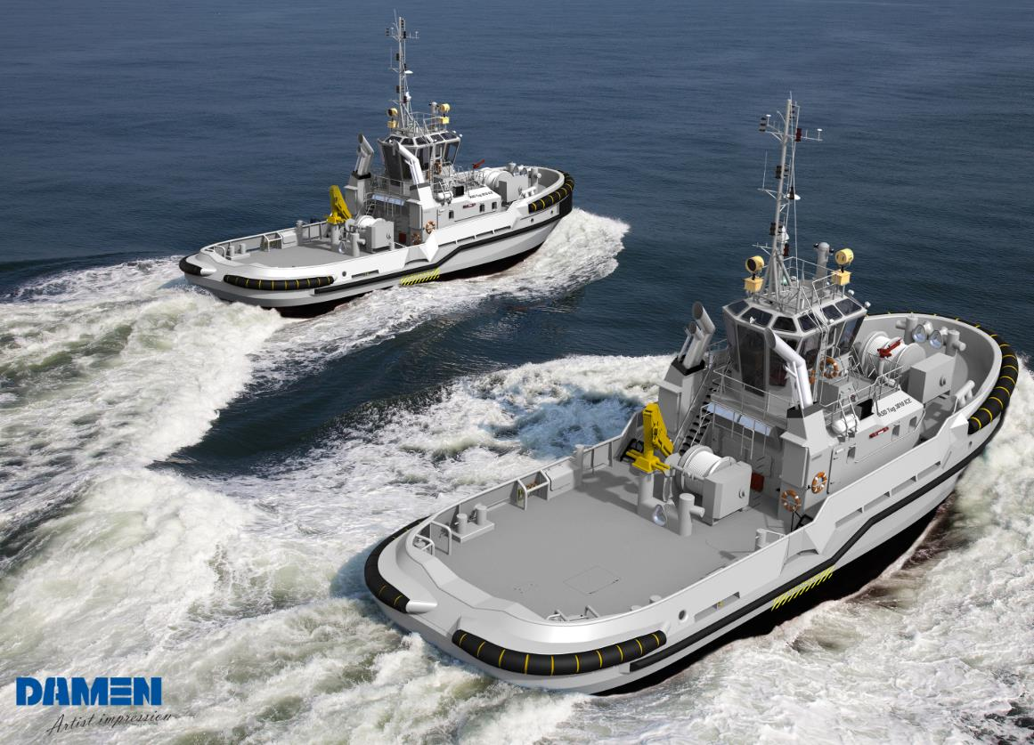 Damen Dutch Navy to Buy Tugboats in Cooperation with FMV Sweden
