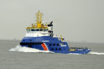 The GUARDIAN in Multraship colours (photo: Richard Wisse)|